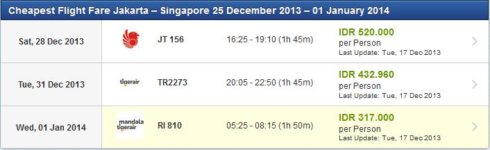 Daftar Harga Tiket Pesawat