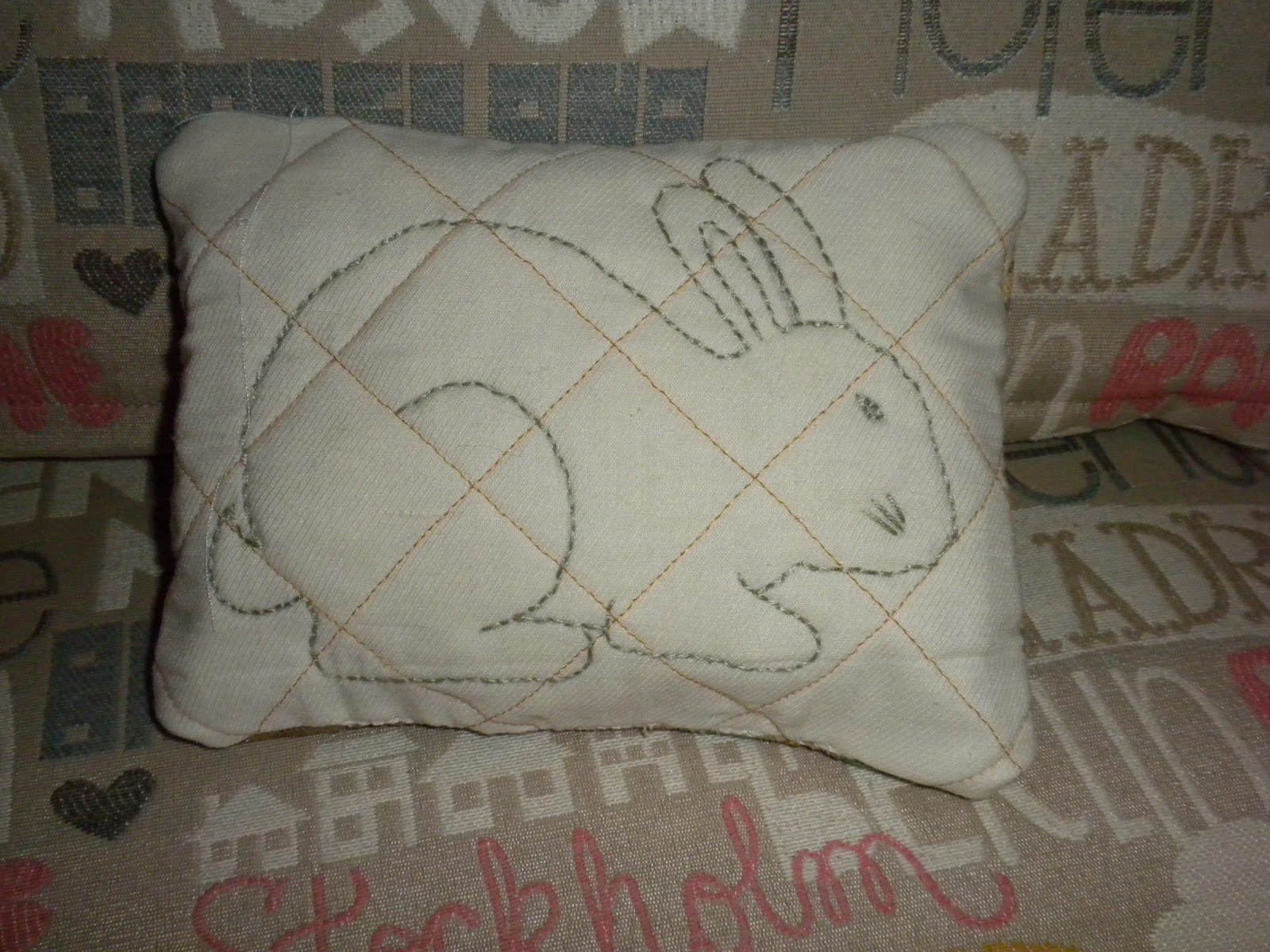 Easter Bunny Pillow by Marie at Substance of Living