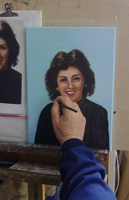 pepe pintando pequeño retrato