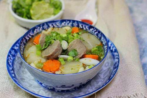 Vietnamese Noodle Recipes - Nui Bò Viên
