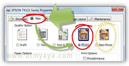 Gambar: Cara mengatur kualitas pencetakan foto/gambar