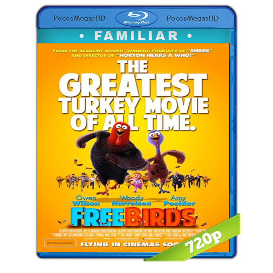 Free Birds (Vaya pavos)(2013) BrRip 720p Castellano/Inglés AC3+subs