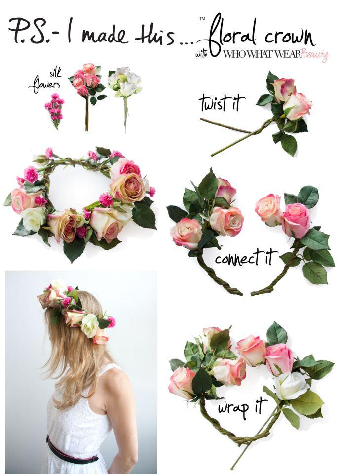 Jou jou diy corona de flores - Coronitas de flores ...