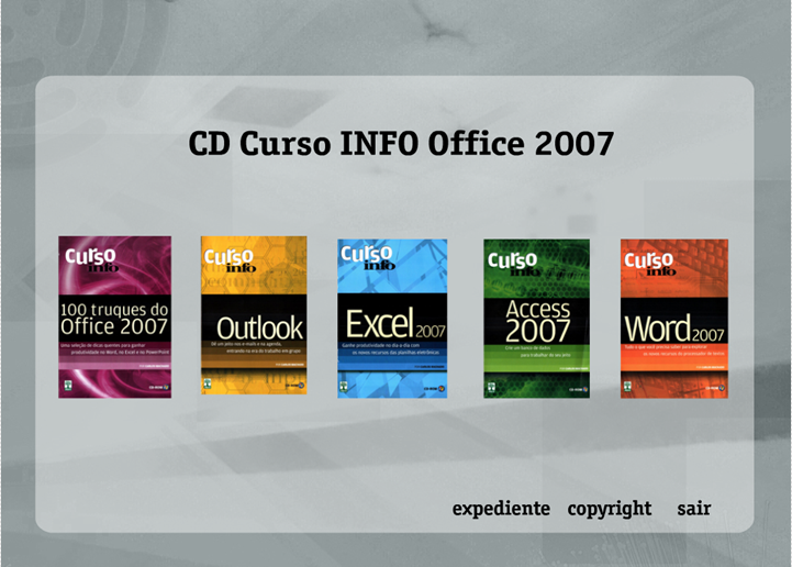 CURSO INFO OFFICE 2007 COMPLETO CD ROM