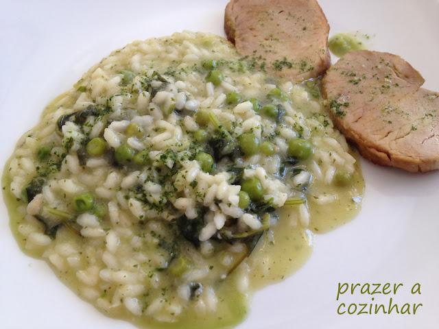 prazer a cozinhar - risotto verde