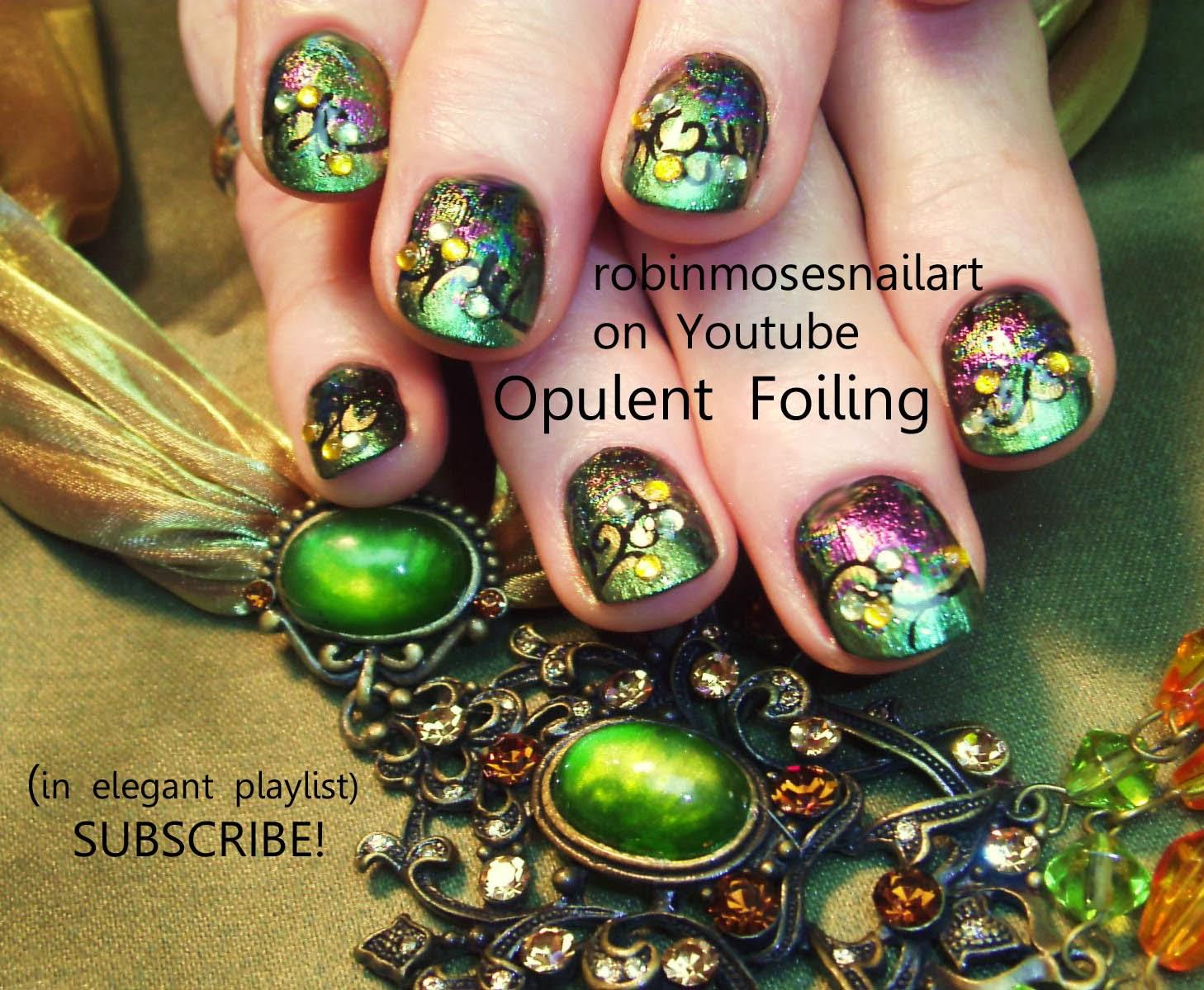 Opal Rainbow Fl Nail Art