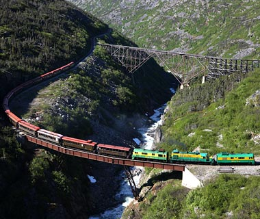 most dangerous railroads in the world White Pass Yukon Route Alaska 8 Jalur Kereta Api Paling Berbahaya di Dunia