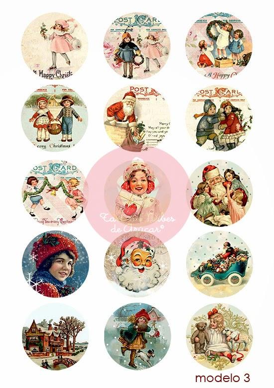 Papel de azúcar para decorar galletas de Navidad, estilo Vintage