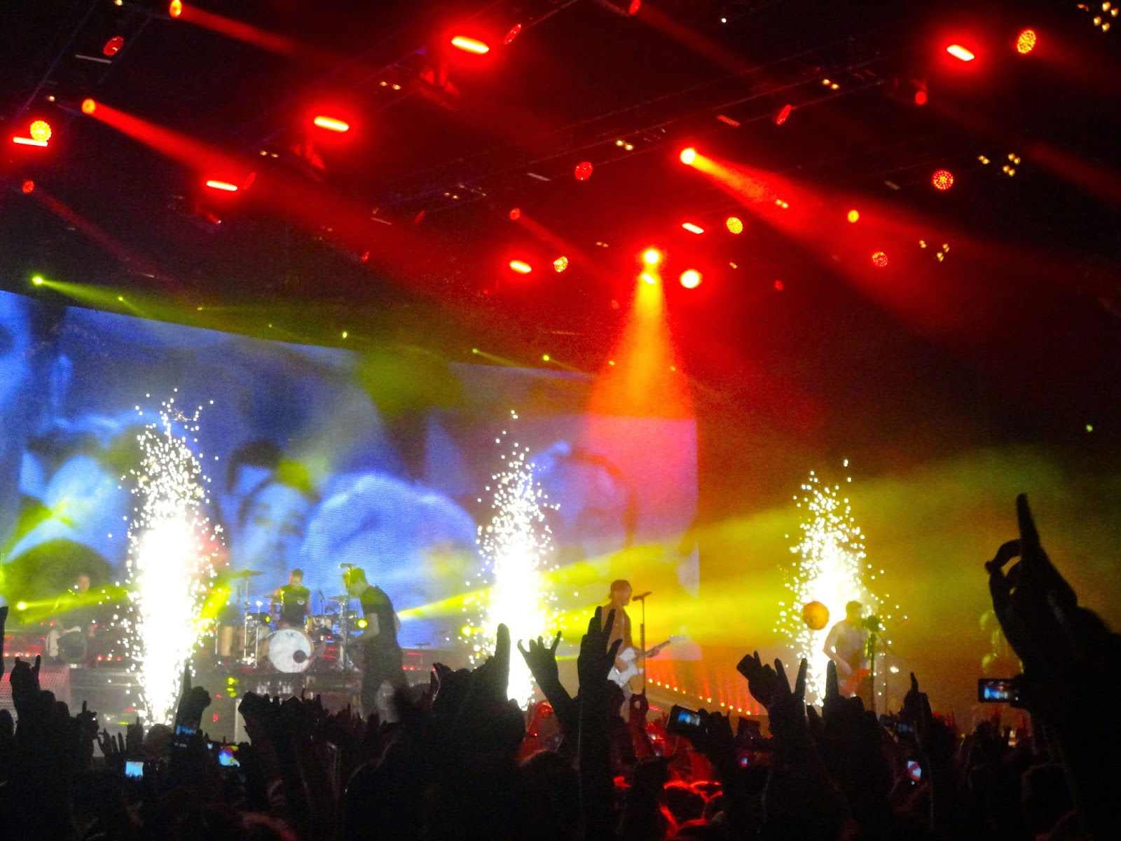 All Time Low performing live in concert in Glasgow Hydro