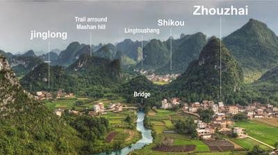 Trekking area near Yangshuo