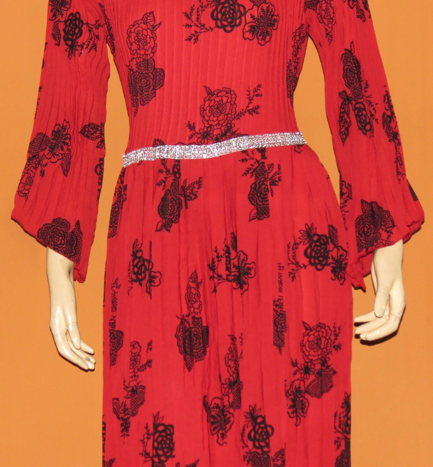 Grosir baju muslim murah online tanah abang gamis plisket Baju gamis couple tanah abang