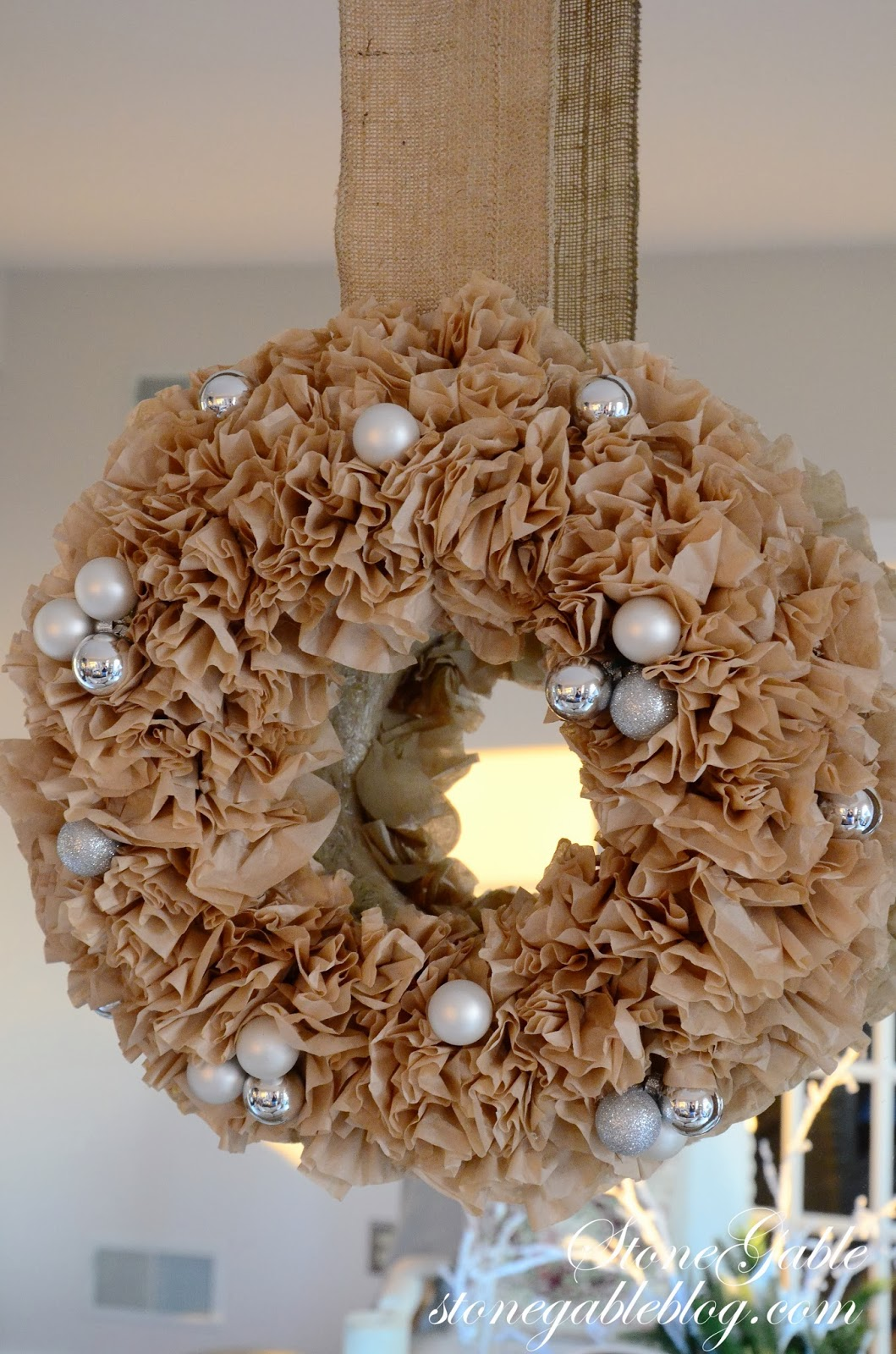 COFFEE FILTER TREE AND WREATH DIYStoneGable