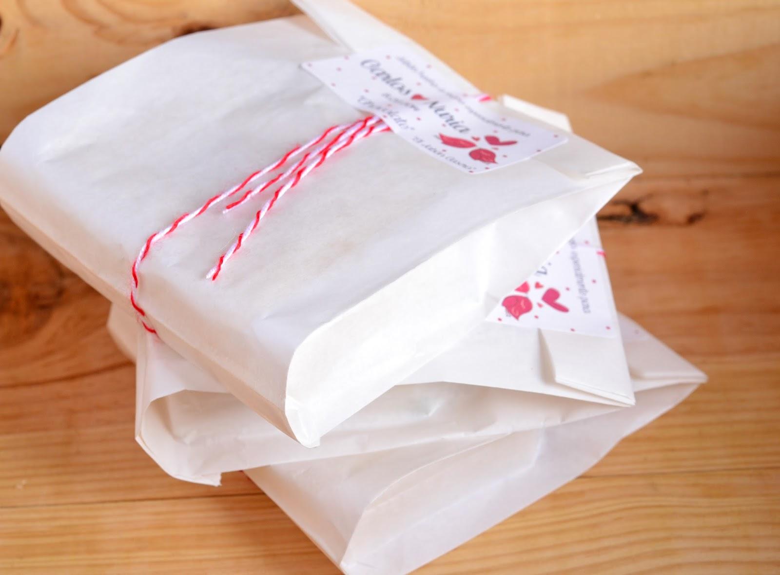 Detalles de boda jabones en bolsitas de papel
