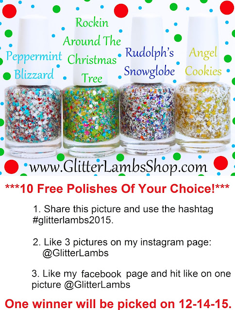 10 Free Polishes of your choice! Winner will be picked on 12-14-15