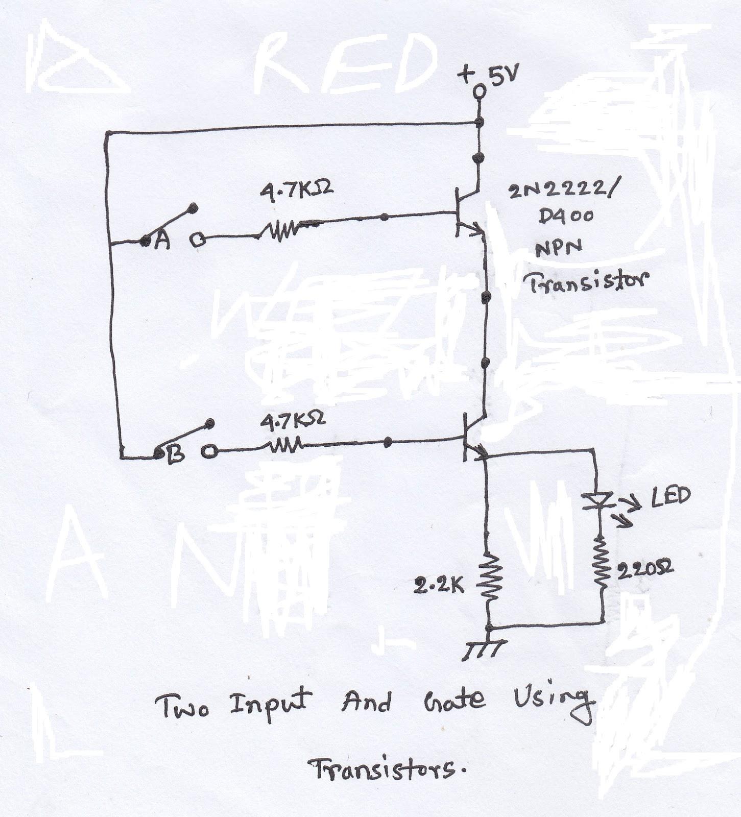 scavenger u0026 39 s blog  logic gates using transistor 1 and gate