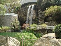 waterfall in Hong Kong Park