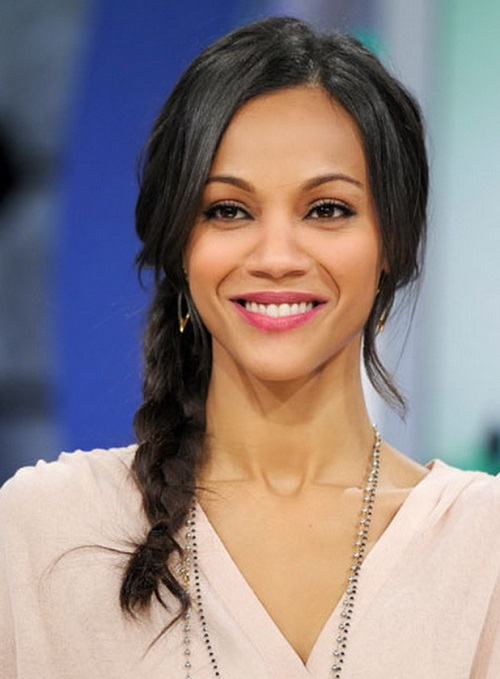 Long Braid  African American Women Hairstyles with Bangs
