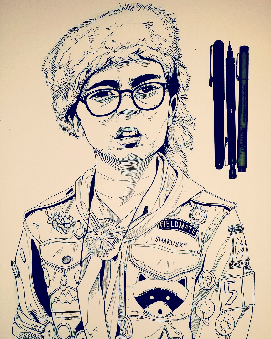 Wes Anderson Moonrise Kingdom Drawing
