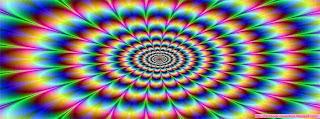 Une couverture facebook avec animation Vos yeux vous trompent Illusion Optique