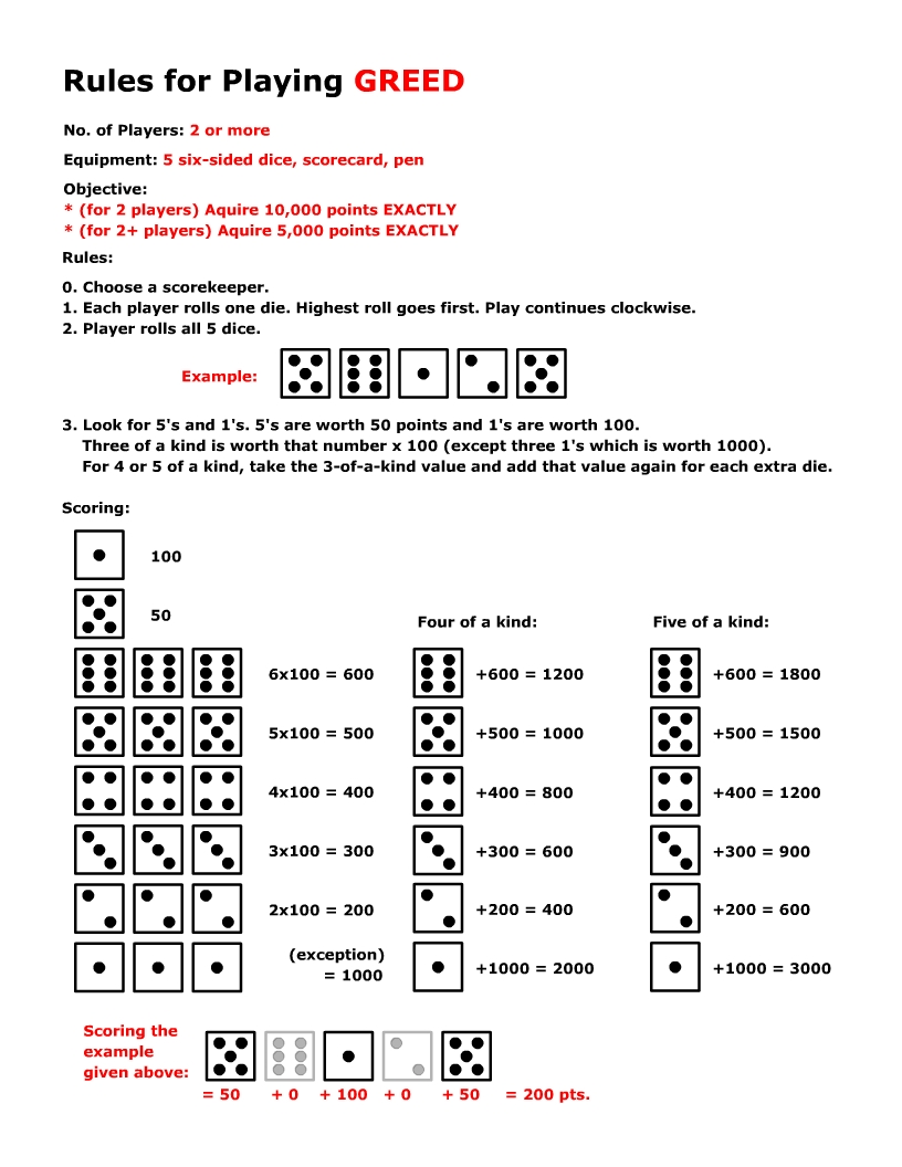 10000 dice game instructions