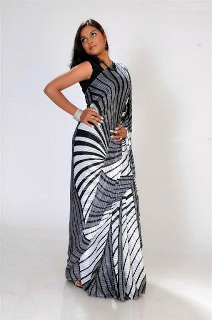 Indian Chiffon Party Wear Saree sari