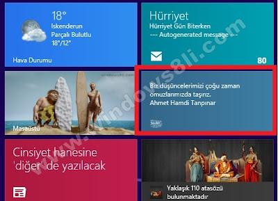 Windows 8 Sözler Uygulaması