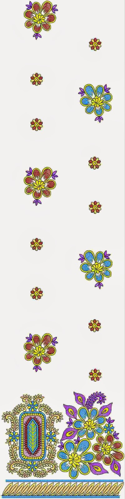 Embdesigntube modern machine bridesmaid kurti embroidery