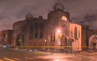 Montreal:Greek Church on Fire