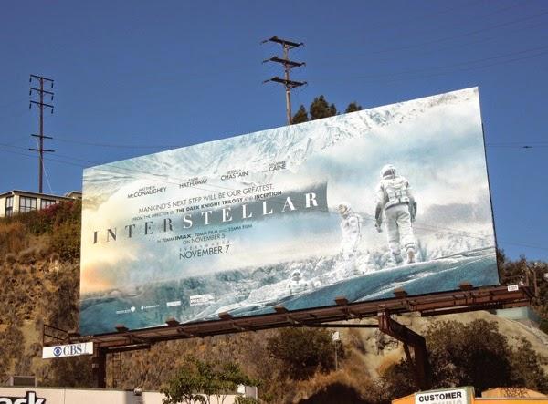 Interstellar film billboard