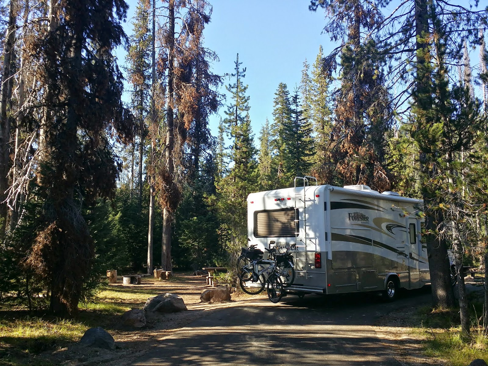 Mazama Campground at Crater Lake