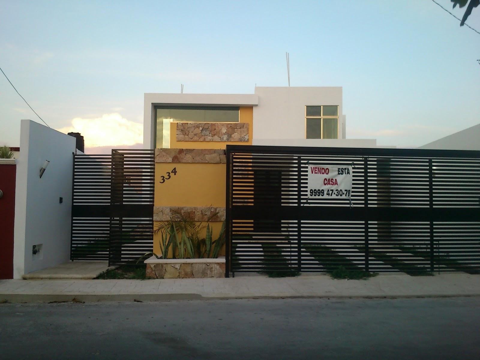Inmobiliaria mc casa en san pedro uxmal for Rejas modernas para frentes de casas minimalistas