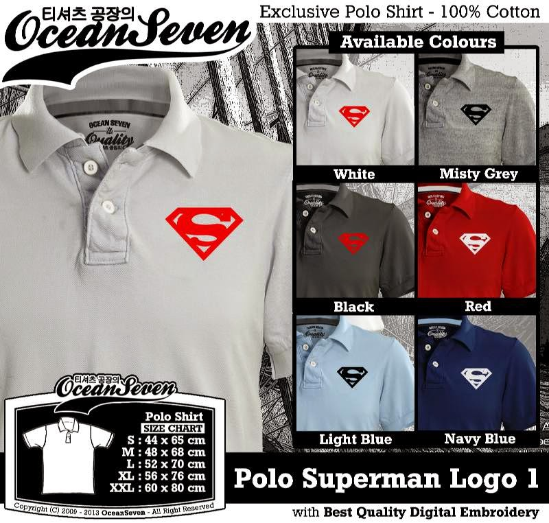 Kaos Polo Superman Logo 1