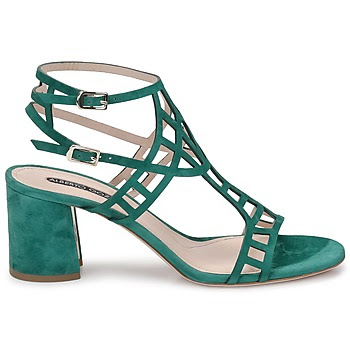Side view of green sandals