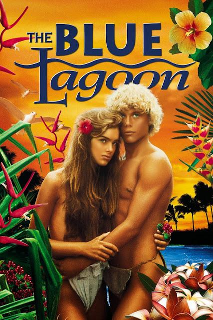 """Cartaz (poster) do filme """"A Lagoa Azul"""" (The Blue Lagoon) em 1980."""