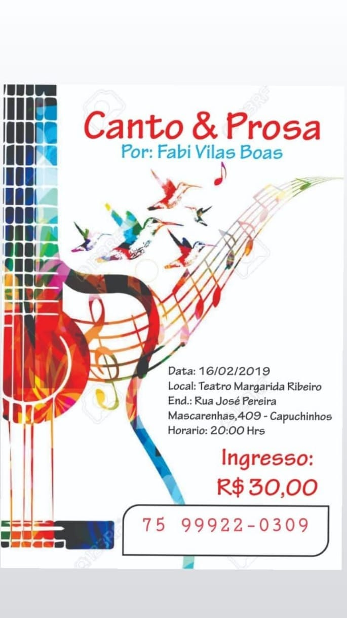 FABI VILAS BOAS NO TEATRO MARGARIDA RIBEIRO 16/02/2019