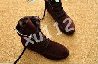 Women Girls Lace Up Martin Knight Short Boots Flats Ankle Wedge Sneakers Shoes