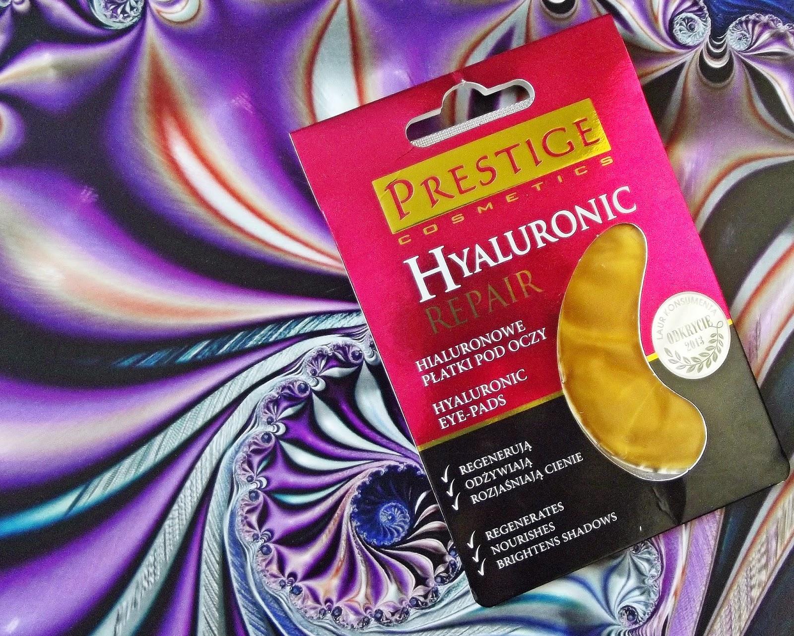 Prestige Cosmetics, Hyaluronic Repair, Złote płatki pod oczy z kwasem hialuronowym