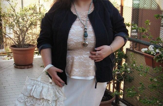 outfit plus size di pasqua con abito axparis