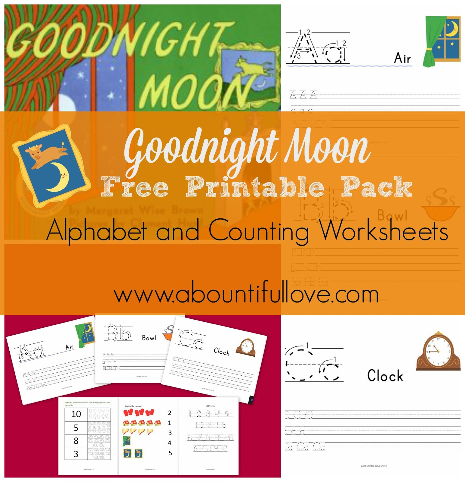 a bountiful love goodnight moon free printable pack