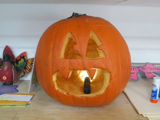 Jack-o-Lantern Carved by Pa-Paw Patch Preschoolers