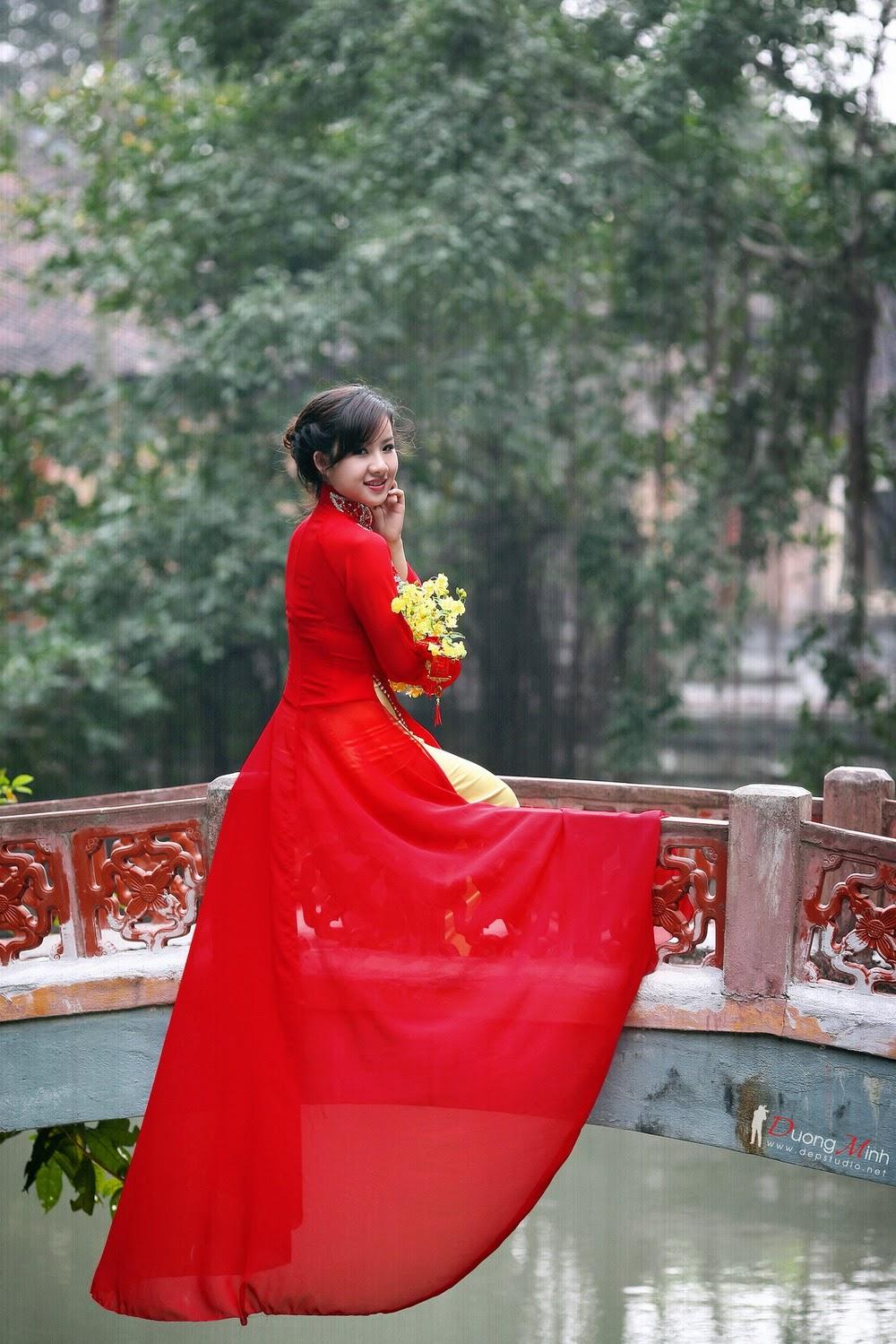Ảnh đẹp girl xinh Áo dài truyền thống Việt Nam - Ảnh 11