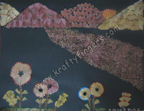 Scenery pencil shavings best of waste kraftyfingers for Best from waste material