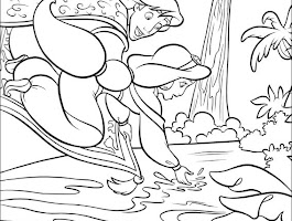 Jasmine And Aladdin Coloring Pages Free