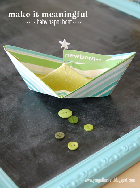 Paper Crafted Boat by Jennifer Gallacher
