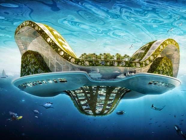 une maison-flottante-comme-alternative-a-la-montee-des-eaux