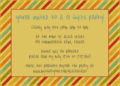 hostess party invitation