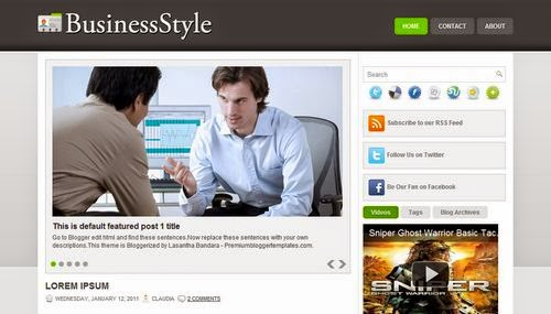 Business Style - Free Blogger Template