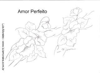Risco de flor amor perfeito para pintura em tecidos