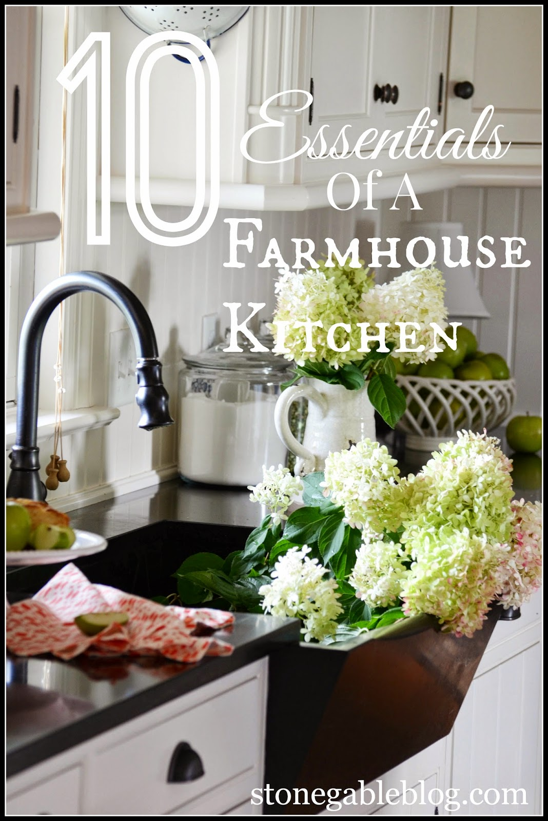 10 elements of a farmhouse kitchen stonegable for Farmhouse kitchen ideas