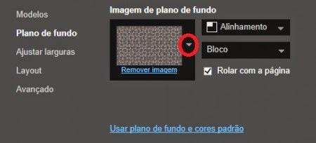 colocar background do blogger